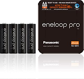Panasonic Eneloop pro, Ready-to-Use Ni-MH accu, AA Mignon, 4-pack, verpakking als opbergtas, min. 2500 mAh, 500 laadcycli,...