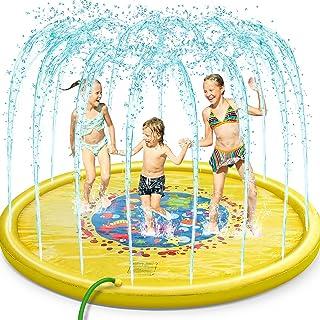 Jojoin Splash Pad, Juego de Salpicaduras y Salpicaduras, Aspersor de Juego para Actividades Familiares Aire Libre /Fiesta...