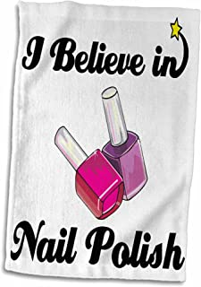"""3D Rose I Believe in Nail Polish Hand/Sports Towel, 15 x 22"""""""