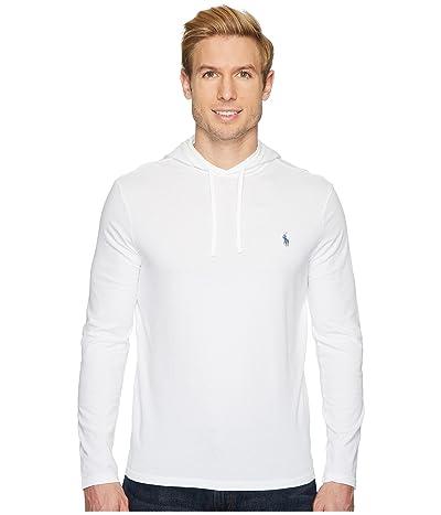 Polo Ralph Lauren Hooded Jersey Tee (White/Navy) Men