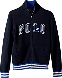 Cotton Full Zip Sweater (Big Kids)