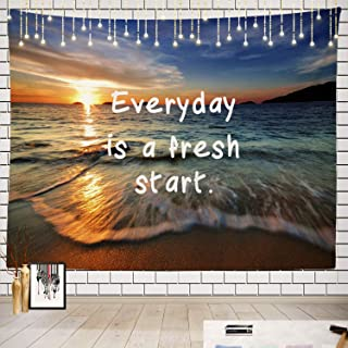 Batmerry Inspirational Tapestry, Life is Good at The Beach I Picnic Mat Beach Towel Wall Art Decoration for Bedroom Living Room Dorm, 51.2 x 59.1 Inches, Tropical