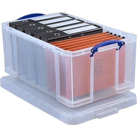 Really Useful Box Boîte à fiche en polypropylène 64 L Transparent