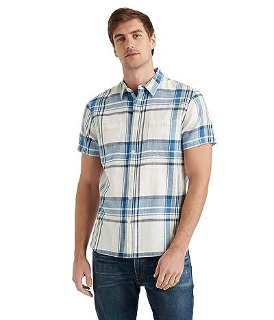 Lucky Brand Jaybird Workwear Shirt (Blue Plaid) Men