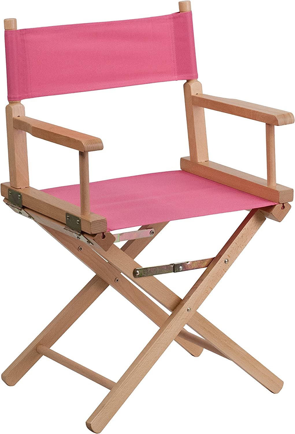 Flash Furniture Standard Height Directors Chair, Pink