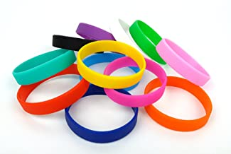 shadow dancer 2 Dozen Multi-Pack Blank Silicone Wristbands, Rubber Band Bracelets,12 Assorted Colors
