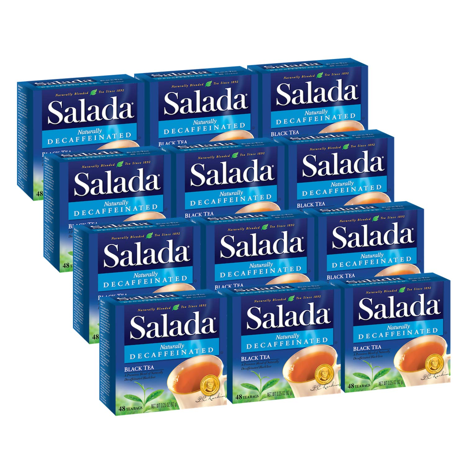 Salada Naturally Decaffeinated Black NEW before selling Luxury goods Bags 576 Tea Wrapped