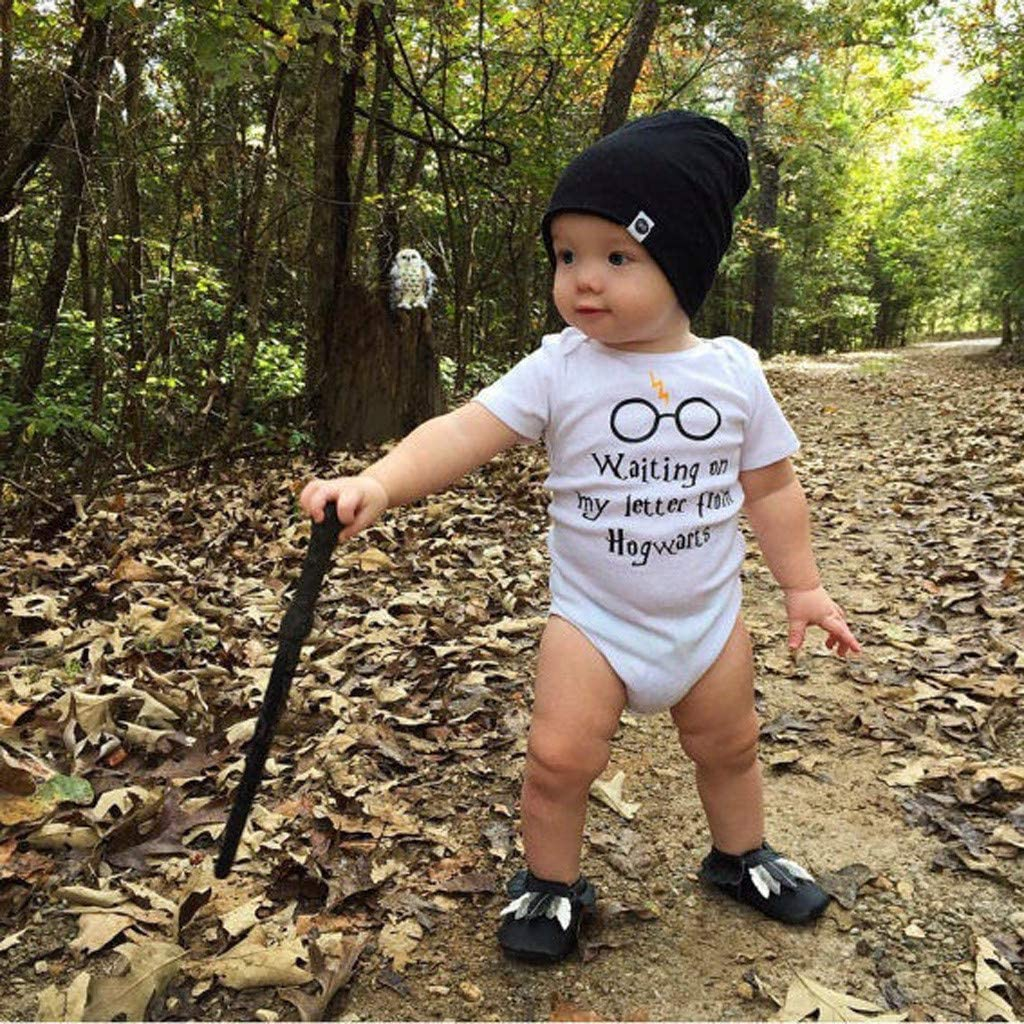 Womola Newborn Baby Girl Boy Infant Romper Straps Letter Printed Bodysuit One-Piece Outfits