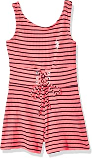U.S. Polo Assn. Girls' Striped Tie Waist Romper