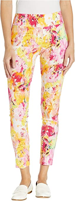 Living in Color Pull-On Ankle Pants with Back Slit