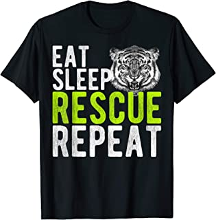 Vintage Eat Sheep Rescue Tiger Repeat Gift Animals Lover T-Shirt