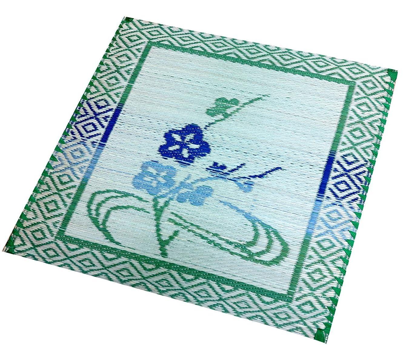 熱心寛容悪因子大島屋 座布団  イ草 手掛座布団 梅  日本製 約55×55cm