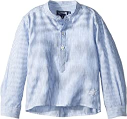 Vilebrequin Kids - Striped Linen Round Collar Shirt (Toddler/Little Kids/Big Kids)