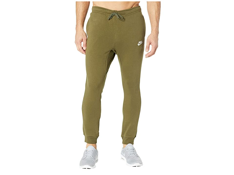 Nike Sportswear Fleece Jogger (Olive Canvas/White) Men