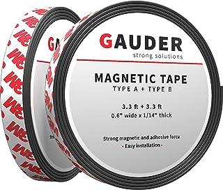 GAUDER Typ A + B taśma magnetyczna silnie samoprzylepna I do moskitiery i zasłon I paski magnetyczne (1 m + 1 m)