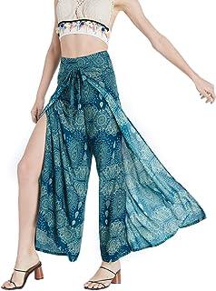 Sponsored Ad - Ele-Woven Harem Pants for Women – High-Waist Hippie Pants – Handmade Boho Pants (green)
