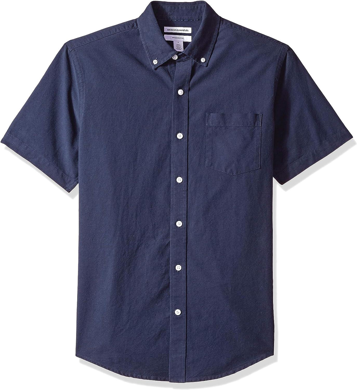 Amazon Essentials Men's Slim-Fit Pocket Long Beach Mall In a popularity Short-Sleeve Oxford Shir