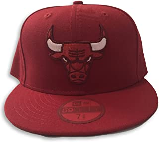 New Era Chicago Bulls 59Fifty Logo Red/Red Fitted Hat (Size 7 3/8)