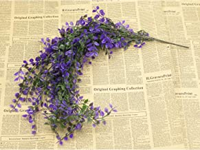Artificial Vine 33 inches Flowers Greenery Fake Hanging Vine Plants Leaf Garland Hanging for Wedding Party Garden Outdoor Office Wall Decoration, Purple