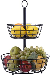 SunnyPoint Tabletop 2-Tier Countertop Fruit Basket Stand