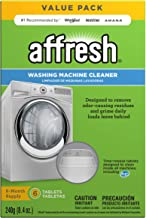 Affresh W10501250 Washing Machine Cleaner, 6 Tablets: Cleans Front Load and Top Load..