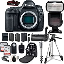 Canon EOS 5D Mark IV Digital SLR Camera Bundle (Body Only) + Professional Accessory Bundle (14 Items)