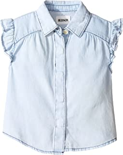 Chambray Ruffle Shirt (Toddler/Little Kids)
