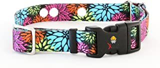 Invisible Fence Collar Compatible Heavy Duty Replacement Strap with The Rugged Lock-Easy Release Clip - Flower Days | Medium Up to 18