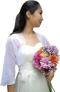 Bolero Jacket 3/4 Sleeve Shrug wrap Bridal Cover up for Wedding Evening Dresses C13