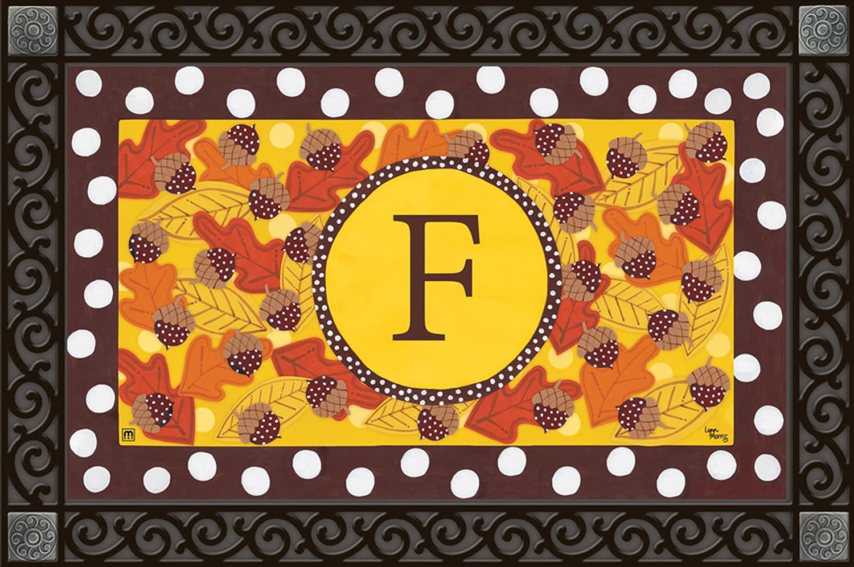 Magnet Works MatMate - Fall Follies Monogram F, 18  x 30