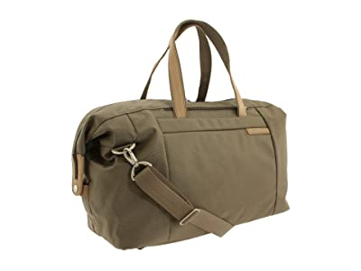 Briggs & Riley Baseline Large Travel Satchel (Olive) Duffel Bags