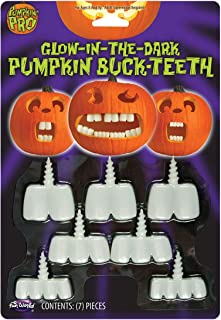 Fun World Glow in The Dark Pumpkin Buck Teeth Standard