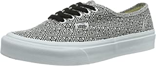 Vans Womens Authentic Slim (Geometric Black/True White) Womens Shoe-5