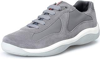 f1b670683 Prada Men's Gray Suede Leather Fashion Sneakers Shoes US 9.5 IT 8.5 EU 42.5