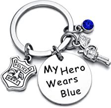 Firefighterman/Police Officer Gift My Hero Wears Red/Blue Braclet/Keychain