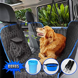 [Upgraded Version] Dog Seat Cover for Back Seat, 100% Waterproof with Mesh Window, Scratch Proof Nonslip Dog Car Hammock, Car Seat Covers for Dogs, Dog Backseat Cover for Cars Trucks SUV