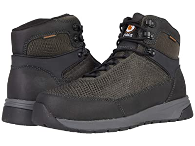 Carhartt Force 6 Waterproof Nano Composite Toe (Black Tectuff/Grey 1260D Nylon) Men