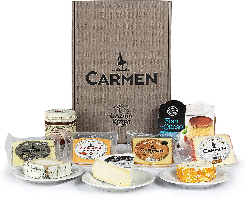 Lote DELICIAS DE QUESO con especialidades de queso de Granja Rinya, confitura y flan de queso