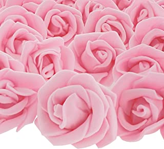 Bright Creations 200-Pack Light Pink 1-Inch Rose Flower Heads for DIY Crafts, Weddings, Decor