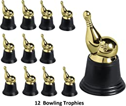 FE 12 Gold Bowling Trophies (12 Pack) Plastic. 2 3/4 ″ x 4 3/4 ″.