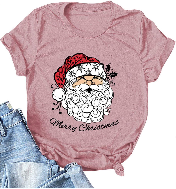 Kethorina Merry Christmas Phoenix Mall Shirt Omaha Mall Women Graphic Santa Le