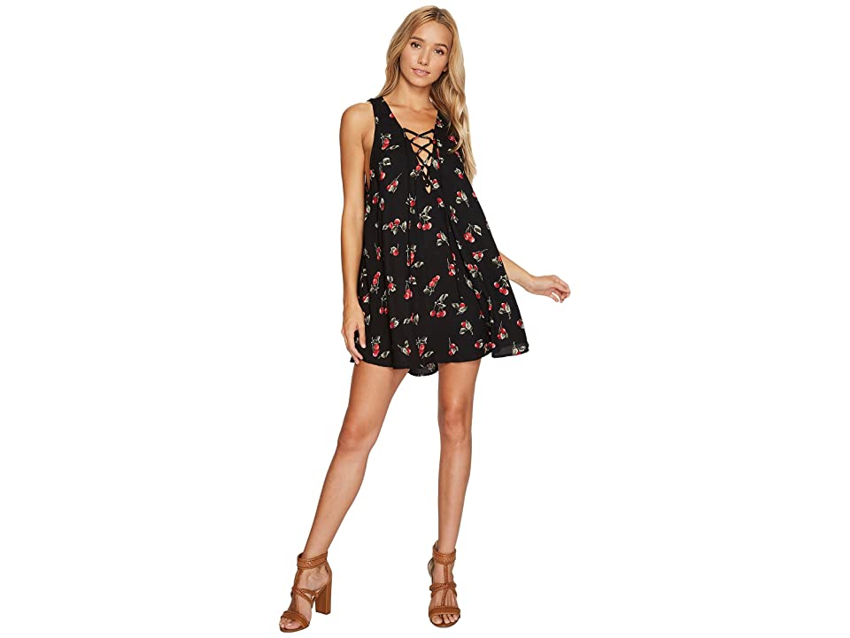 Show Me Your Mumu Rancho Mirage Lace-Up Tunic Dress (Cheeky Cherry Crepe) Women