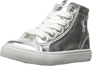 POLO RALPH LAUREN Kids Slater MID Sneaker, Silver, 1.5 M US Little