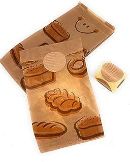 Bolsas papel kraft para bocadillo 14+7x27 cm (125 uds) con etiqueta de cierre