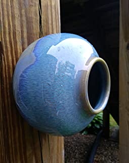Bird House Bottle, Birdhouse Pottery, Handmade Stoneware Ceramic