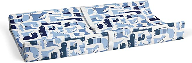 """product image for Glenna Jean Dino Blue 16"""" x 32"""" Changing Pad Cover for Baby Nursery"""