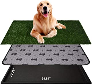 AZSSMUK Dog Pee Potty Pad,Grass Large Dog Litter Box Toilet Artificial Grass Turf for Dogs,Pet Potty Training Pee Portable...