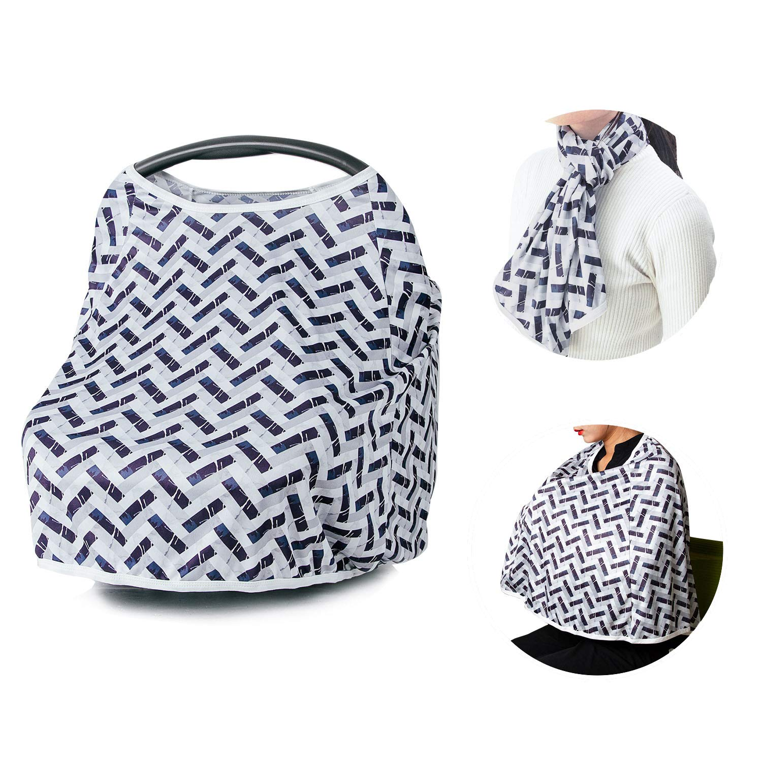 Infant Car Seat Cover Nursing Cover Carseat Canopy Car Seat Covers for Babies Nursing Covers for Breastfeeding Baby Carseat Baby Car Seat Covers Breastfeeding Cover