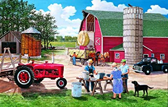 product image for Lunchtime on The Farm 30 Piece Jigsaw Puzzle by SunsOut