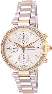 Seiko Reloj cronografo para Mujer de Cuarzo con Correa en Acero Inoxidable SNDV42P1